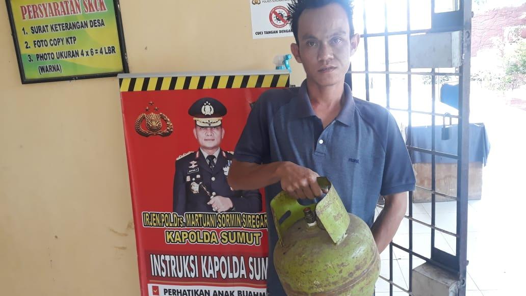 Curi Tabung Gas 3 Kg, Pria Ini Ditangkap Warga