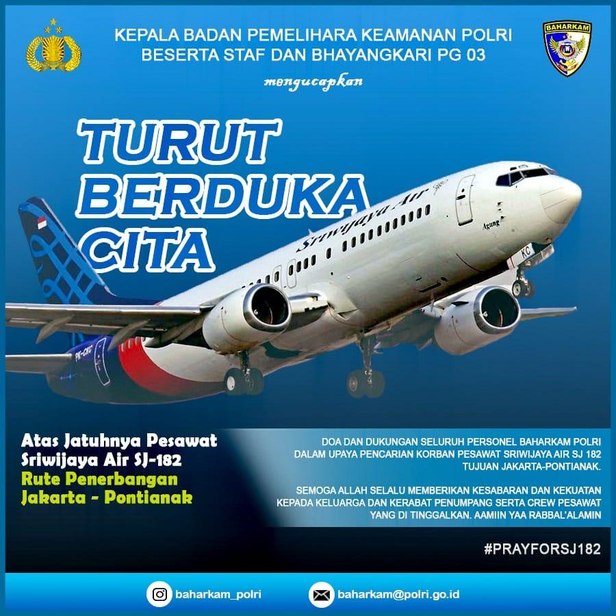 Kabaharkam Berdukacita Sriwijaya Air SJ182