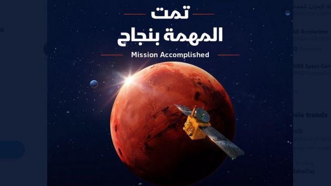 Hebat! Uni Emirat jadi Negara Arab Pertama yang Sampai ke Mars