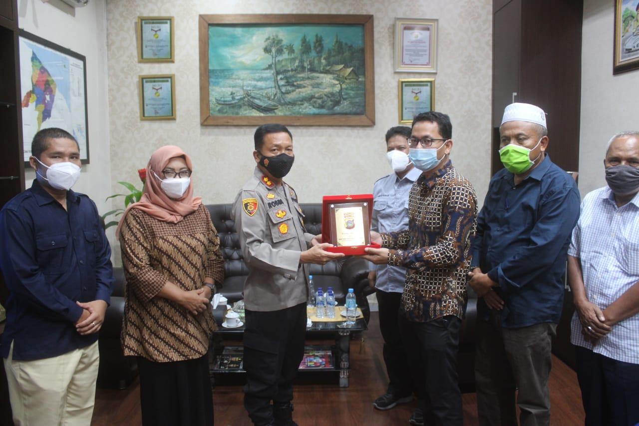 KPUD Bersilaturahmi ke Polres Serdang Bedagai