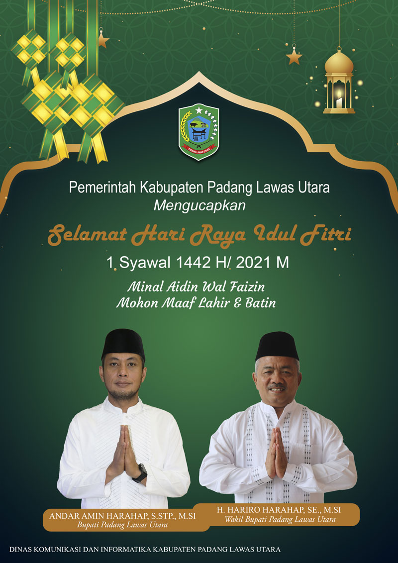 Selamat Hari Raya Idul Fitri 1442 H - Bupati Paluta